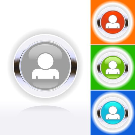 Colored people icon set in mode  Stock Vector - 14022693