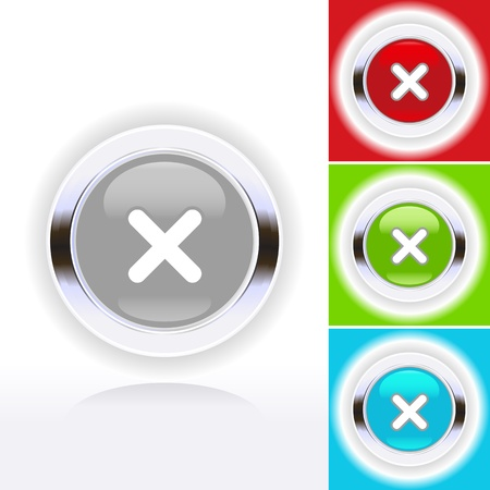 icon illustration of check mark over diverse buttons   Vector