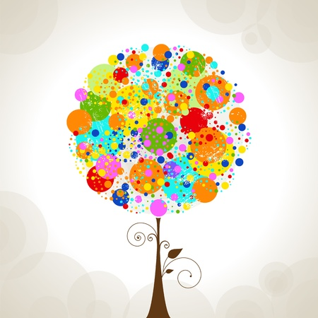 Tree icon abstract vector illustration  Illustration