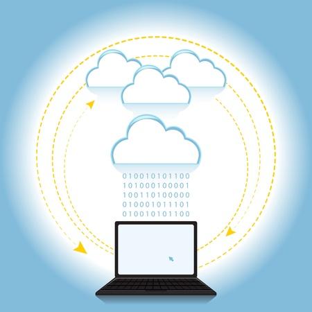 Cloud concetto di elaborazione basata sull'idea Vettoriali