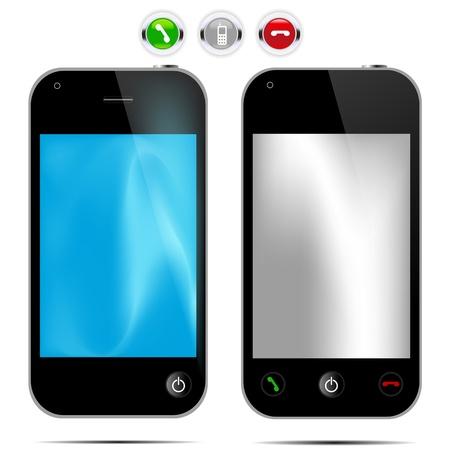 mobil: Vector illustratie van de mobil telefoon