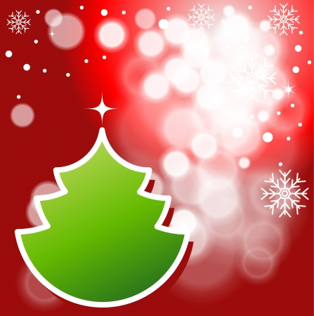 x mas: Abstract Christmas background with snowflakes and Christmas tree Global color swatches for easy editing  Illustration