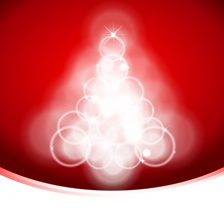 Stylized Christmas tree illustration Vector