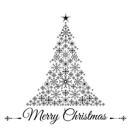 fur tree: Stilizzato albero di Natale illustrazione vettoriale