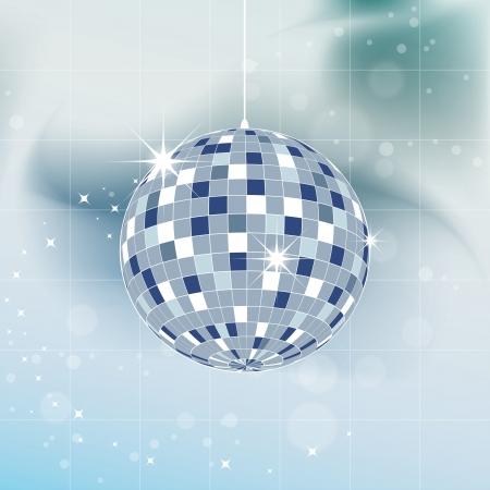 klubok: Vektoros illusztráció - Mirror disco ball