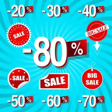 closeout: Vector illustration of sale percents