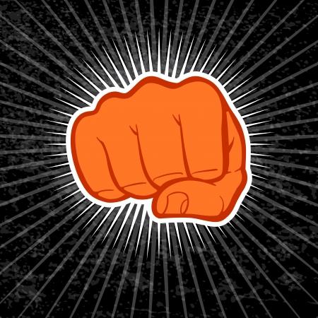 Fist illustration. Illustration