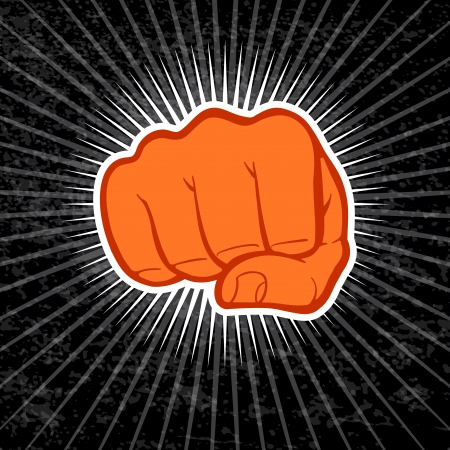 Fist illustration. Vector