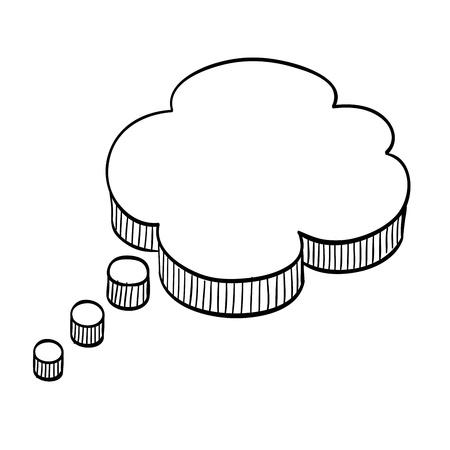 speech bubble: Dessin bulle. Illustration