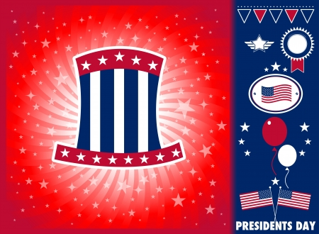 President day elements Vector