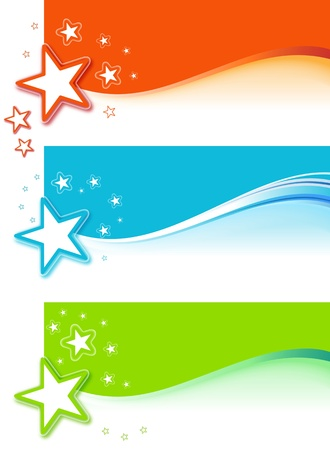 Star Banner Set Stock Vector - 19957744