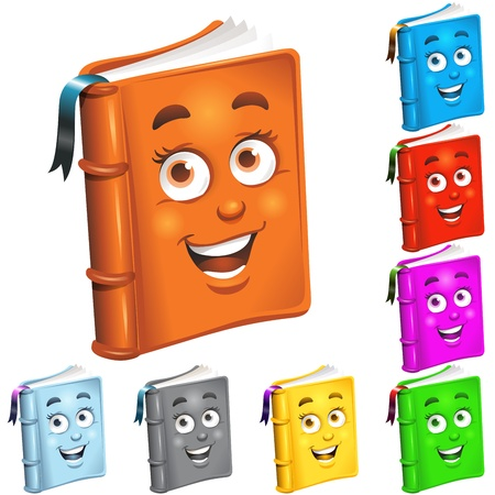 novels: Book mascots