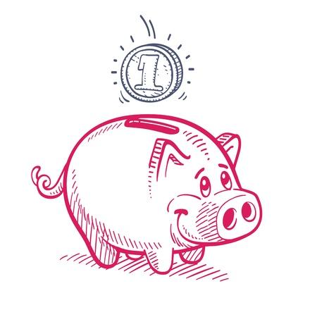 Piggy Bank Vettoriali
