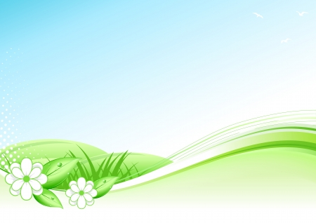 Abstract Spring and Summer Background Illustration