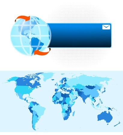 World Map Stock Vector - 21448924
