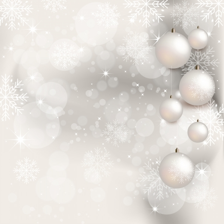 Christmas Background with Gift Box - Illustration Vector