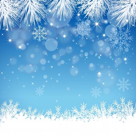 mid air: Copo de nieve azul de fondo - Ilustraci�n Vectores