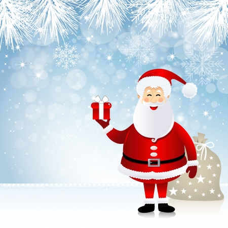 Christmas design with Santa Claus Vector