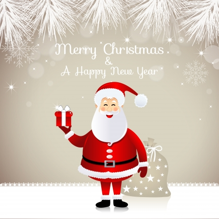 new year s card: Christmas design with Santa Claus