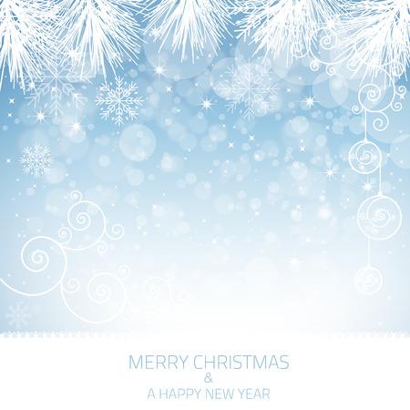 Eine blaue Schneeflocke Hintergrund mit vielen verschiedenen Schneeflocken