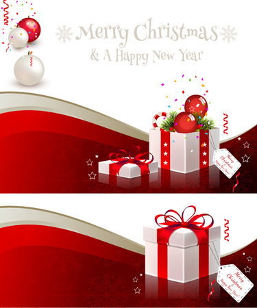 A set of winter banners  Mesh used  EPS 10 file, contains transparency effects  Vector
