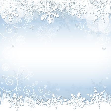 lightweight ornaments: A blue snowflake background with many different snowflakes