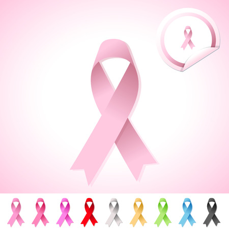 Breast Cancer Awareness Ribbon Stock Vector - 26164403