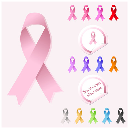 Breast Cancer Awareness Ribbon Stock Vector - 26164411