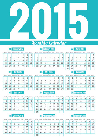 Calendar 2015. Vector, illustration Vector