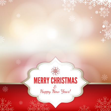 Abstract christmas background illustration. Vector