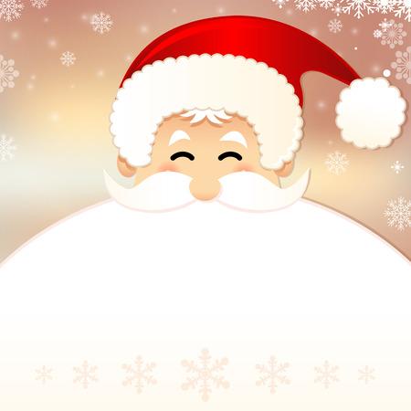 papa noel: Estilo retro tarjeta de Navidad con Santa Claus