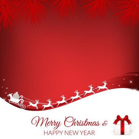 card background: Immagine di sfondo di Natale astratta. Vettore, illustrazione.