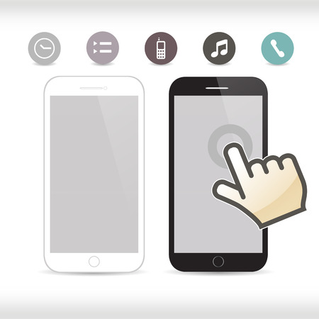 communicator: Smartphone, mobile phone isolated, realistic vector illustration.