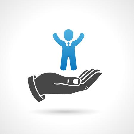allocation: Human resources icon, business recruiment concept symbol.