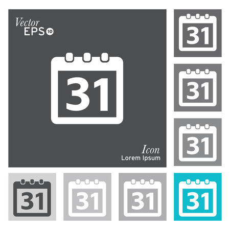 일정: Calendar icon - vector, illustration 일러스트