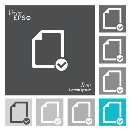 internet mark: Checklist document icon - vector, illustration.