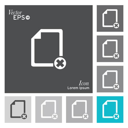 cancel icon: Documents with errors icon - vector, illustration. Illustration