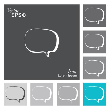 speech buble: Speech buble icon - vector, illustration.