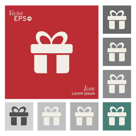 christmas paper: Gift box icon - vector, illustration.