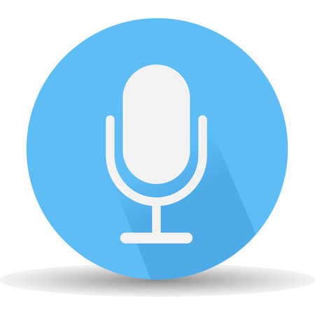 Microphone icon. Vector, illustrations eps10 Illustration