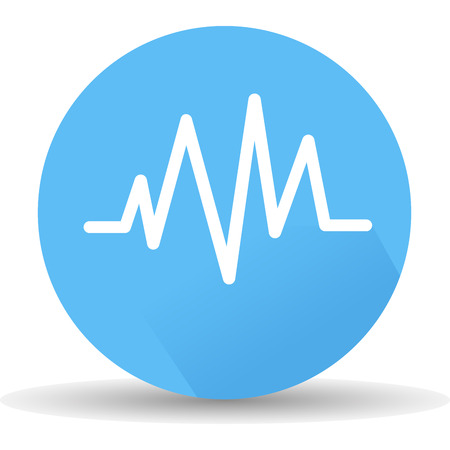 ECG icon. Vector, illustrations eps10