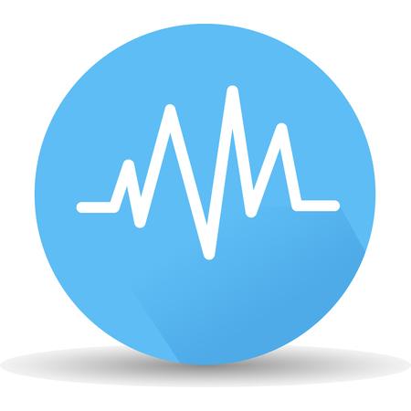ECG icon. Vector, illustration eps10