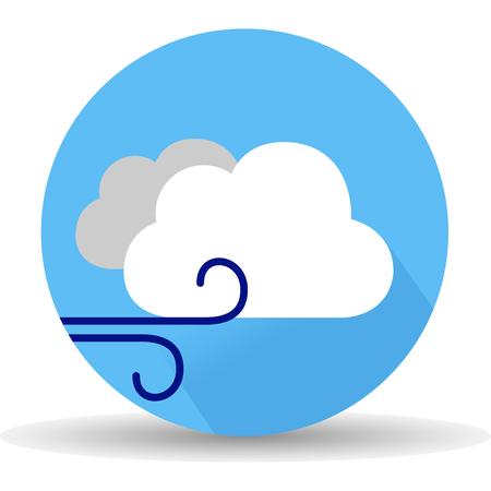 storm cloud: Wind icon. Vector, illustration, eps10. Illustration