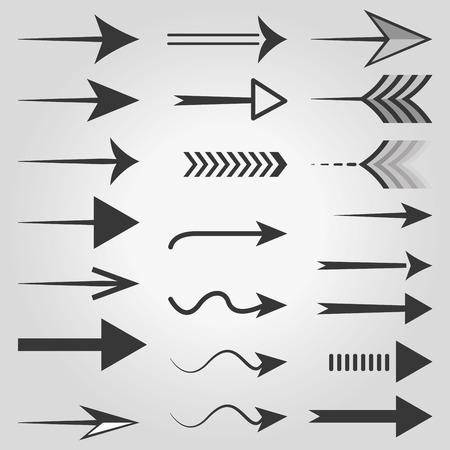 arrow icons: Vector arrow icons. Vector, illustration, eps10.