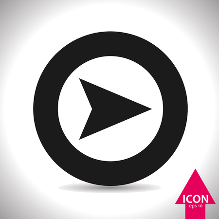 directions icon: Arrow icon. Vector, illustration, eps10.