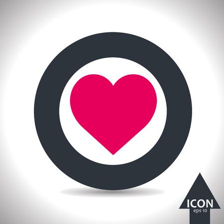love icon: Vector love icon. Vector, illustration, eps10. Illustration