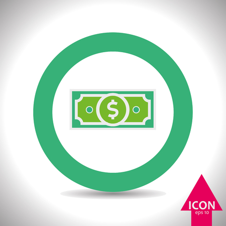 paper currency: dollar icons