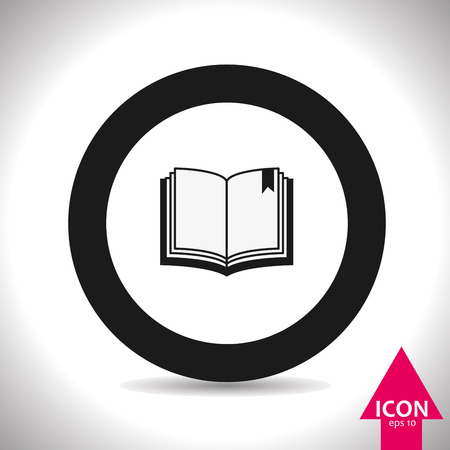open magazine: Book icon Illustration