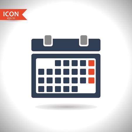 business sign: Vector calendar icon. Vector, illustration, eps10.
