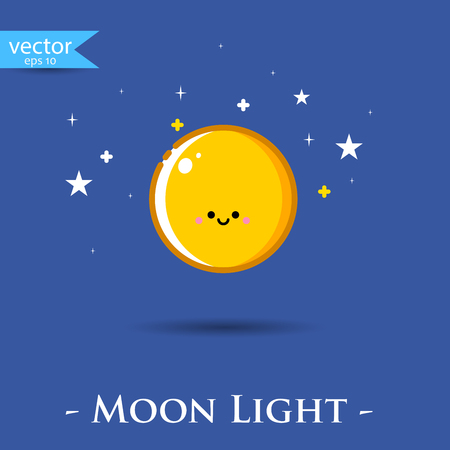 moon: Moon. Vector, illustration, eps10.